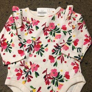 Floral long sleeve onesie NWT